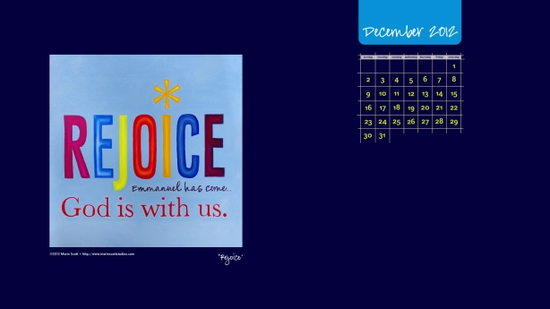 A new calendar for your desktop to use in December.