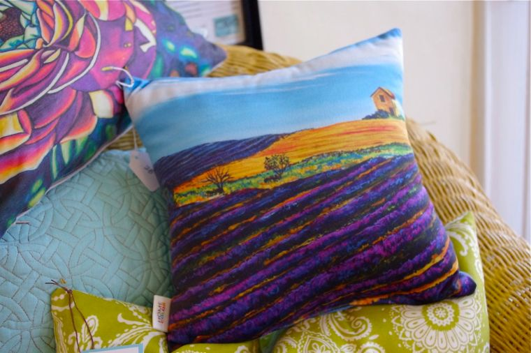 ON THE RD. TO ARLES #1 • my painting on a pillow! • $28