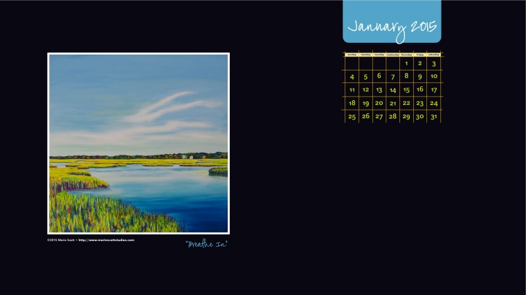 JANUARY 2015 Desktop Calendar_black