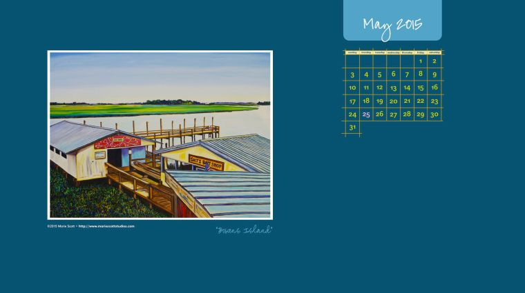 BOWENS ISLAND •©2015 Marie Scott • Download this free calendar to use on your desktop during the month of May!