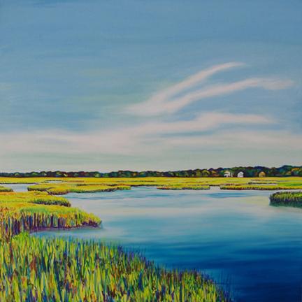 BREATHE IN • 36 inch x 36 inch original oil painting • ©2015 Marie Scott