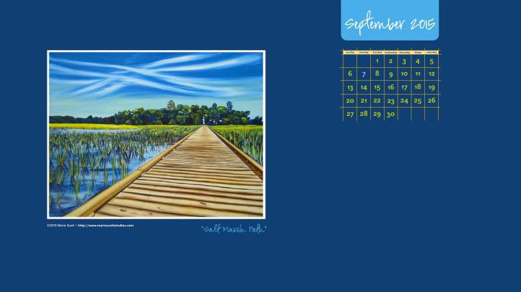 SEPTEMBER 2015 Desktop Calendar