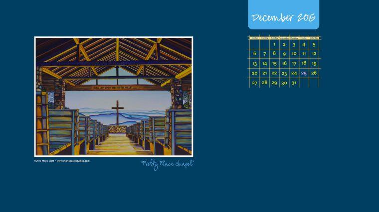 DECEMBER 2015 Desktop Calendar